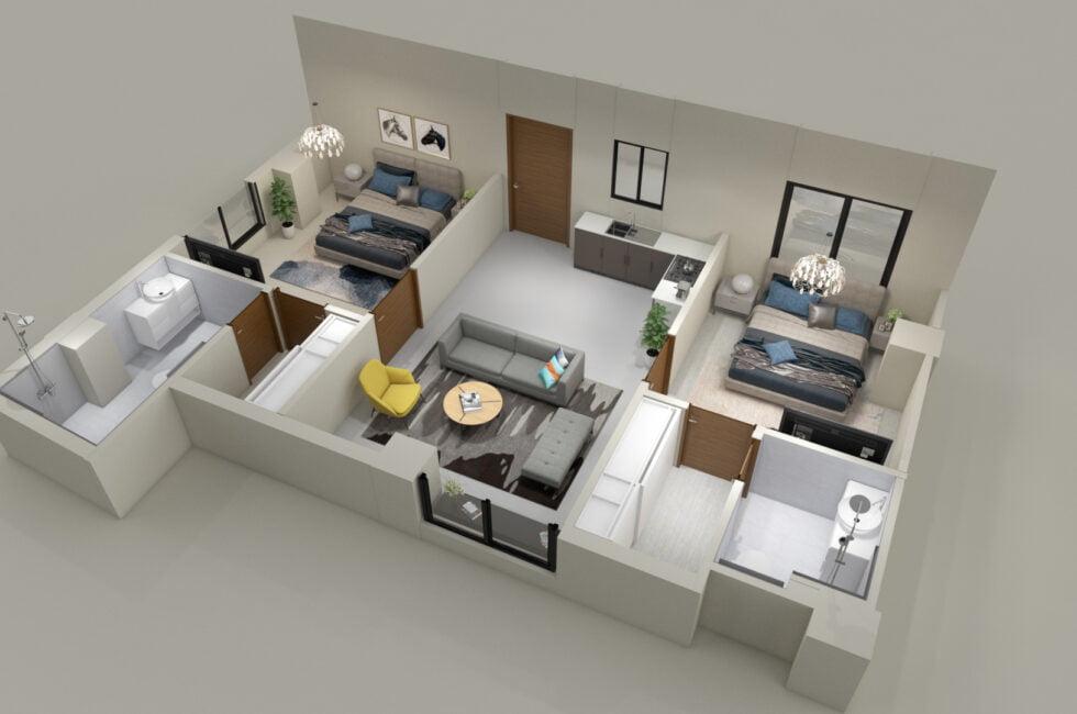 2 story house floor plans 3d